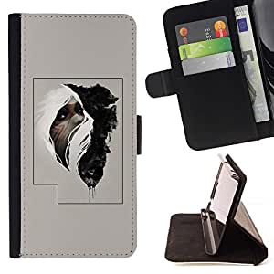 Momo Phone Case / Flip Funda de Cuero Case Cover - Hombre tribal cartel misterioso - HTC One Mini 2 M8 MINI