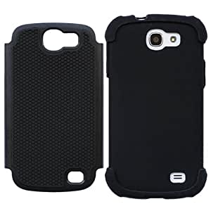 Casea Packing Black Anti-slip Tough Rubber Hard Cover Case for Samsung Galaxy Express i8730