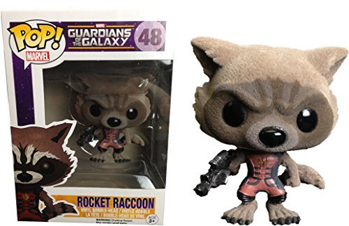 Funko Pop! Guardians of the Galaxy #48 Rocket Raccoon (Flocked) Ravagers Edition Exclusive by FunKo