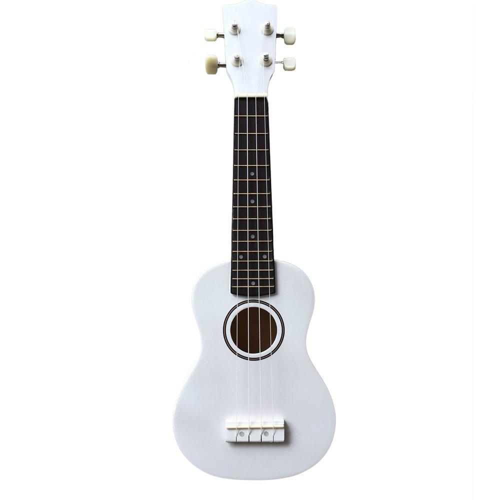Zimo 21'' Acoustic Soprano 4 String Haiwan Ukulele Musical Instrument Uku White by Zimo®