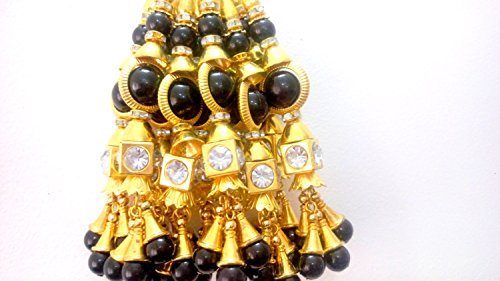 Charm Saree - Bridal Blouse accessories cloth Tassels Beaded Latkans Dress tassels Saree Latkans Borla-Length 4 inches-Price for a Pair-IDLA63