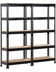 Yaheetech Opbergrek voor zware lasten, 150 x 70 x 30 cm, 5 MDF-platen, kelderrek, werkplaatsrek, 750 kg