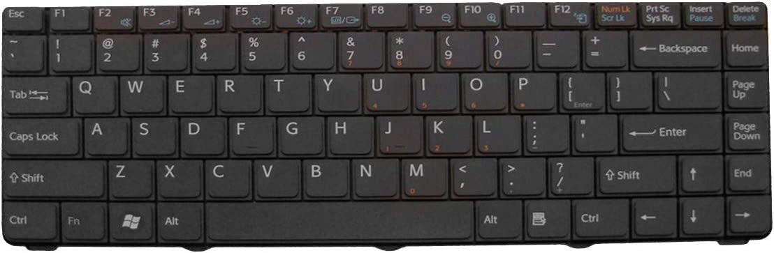 Laptop Replacement Keyboard for Sony VGN-NR VGN-NS Black for Integrated Graphics