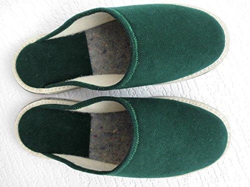 FILZ Pantoffeln - Hausschuhe, Gr.45 WOLLFILZ, Grün, Made in Poland 01