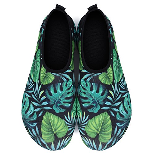 Exercise Outdoor Summer Womens and for Yoga Socks Shoes Swim Surf Mens Leaf Water JIASUQI Aqua Beach Palm B6HRtqw6I