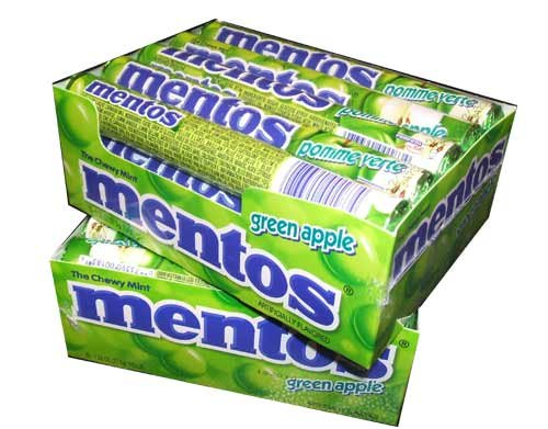 Mentos Chewy Candy, Apple Flavor, 1.32 Ounce Rolls-(pack of 30)