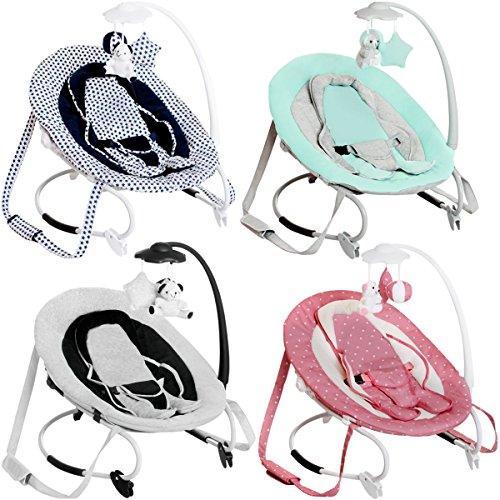 Babywippe PERLA / Babyschaukel mit Spielbogen (PINK)