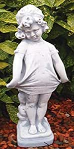 Figura, piedra Figura Rafaella, Jardín Figura, Stone Statue, beige