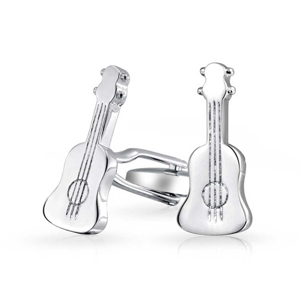 Música Instrumento Guitarra Acústica Camisa Gemelos para Hombres Y ...