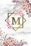 M: Cute Initial Monogram Letter M College Ruled