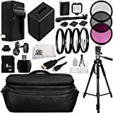 Professional Sony NEX-VG10, NEX-VG20, NEX-VG30 Ultimate 8GB Accessory Package Kit. Includes 8GB Memory Card + High Speed Memory Card Reader + Replacement FV-100 Battery + AC/DC Rapid Home & Travel Charger + 3PC Filter Kit (UV-CPL-FLD) + 4PC Macro Filter S