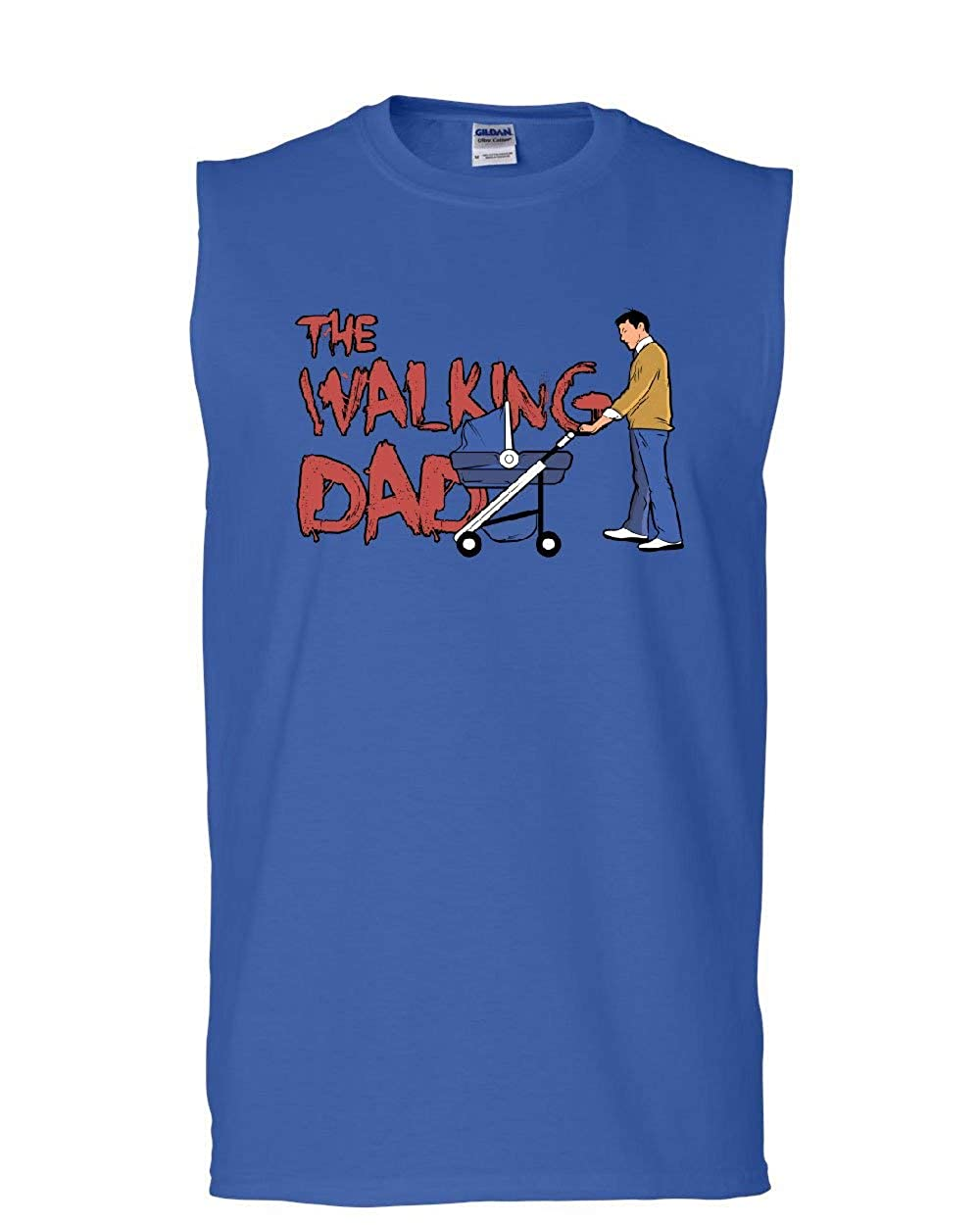 The Walking Dad Muscle Shirt Fathers Day Parody Zombie Apocalypse Sleeveless