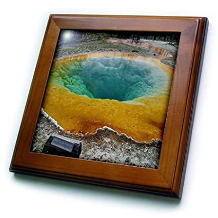 3dRose ft/_17291/_1 Morning Glory Pool Yellowstone National Park Framed Tile 8 by 8