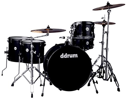 (ddrum J2R 524 BSP Piece Drum Set, Black Sparkle)