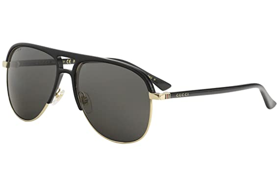c6119fe309 Image Unavailable. Image not available for. Color  Gucci Grey Aviator  Sunglasses GG0292S-002 60