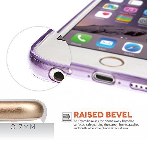 Yousave Accessories iPhone 6 Hülle Violett Ultradünne Silikon Gel Schutzhülle Mit Griffel Stift