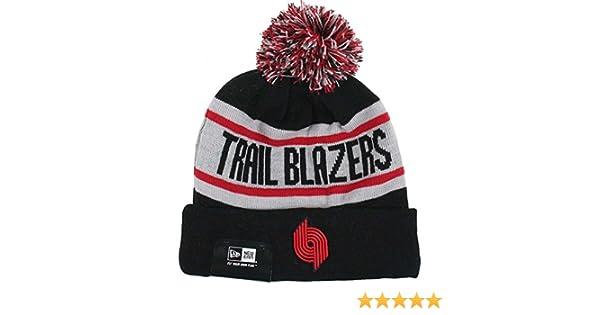 c967d13d45d Amazon.com   Portland Trail Blazers New Era Biggest Fan Redux Knit Beanie    Sports   Outdoors
