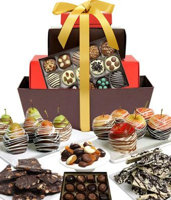 From You Flowers - Grand Belgian Chocolate Covered Fruit Gift Basket (40 Pieces) by From You Flowers (Image #1)