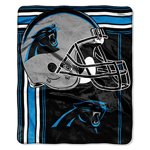 - The Northwest Company NFL Carolina Panthers Touchback Plush Raschel Throw, 50