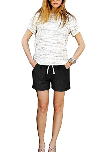 9d2072b810b127 Keephen Womens Summer Linen Shorts Pants Bottoms Holiday Beach Soft ...