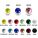 Outuxed 5400pcs 12 Colors Hotfix Rhinestones 3