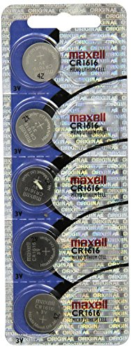 Maxell CR1616 Lithium Coin Cell (5 Pack)