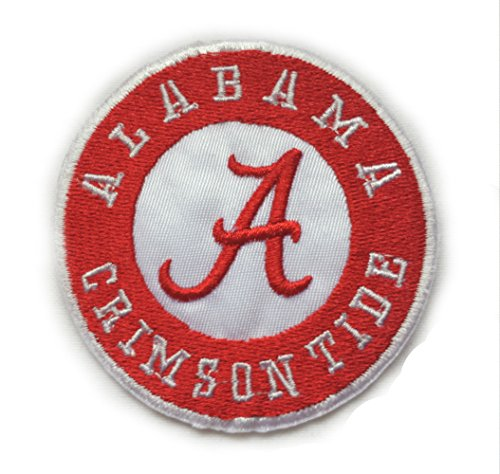 InspireMe Family Owned Alabama Crimson Tide Fully Embroidered Sew/Iron On Patch 2.75