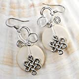 White Celtic Knot Earrings - Handmade Irish Jewelry Gift