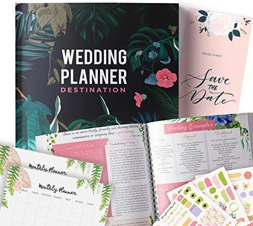 Destination Wedding Planner Step By Sstep Binder لتنظيم يوم أحلامك باستخدام الملصقات والصور والصور مجلة لتنظيم حفل زفاف بنفسك هدية للعرائس Amazon Ae