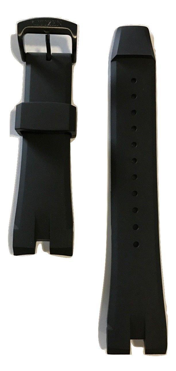 Original Citizen Ecosphere Black Rubber Band Strap For CA4155-12L or CA4159-03E
