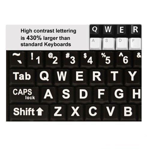 VisiKey Wired English Large Print Computer USB Keyboard