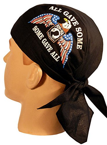 Skull Cap Biker Caps Headwraps Doo Rags - POW/MIA Some Gave All w/Eagle on ()