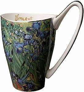 Ceramic Mug Funny mug, Tea cup Coffee Cup 16 oz for Kitchen, van gogh art mug (lrises Pattern)