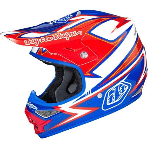 Troy Lee Designs Charge Air MotoX/Off-Road/Dirt Bike Motorcycle Helmet - White/Blue / Small (Troy Lee Dirt Bike Helmet)