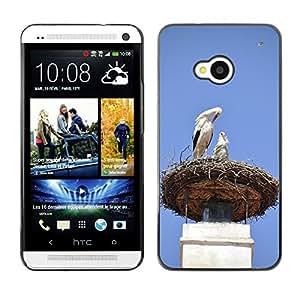 Super Stellar Slim PC Hard Case Cover Skin Armor Shell Protection // M00126467 Stork Nest Storchennest Fireplace // HTC One M7