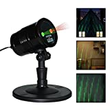 Zinuo Christmas Laser Lights, Waterproof Projector Lights with RF Wireless Remote for Outdoor Garden/Patio/Wall Xmas Party KTV Wedding Club Holiday Decorations (Meteor Shower Laser Lights)