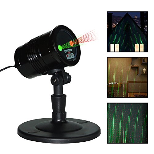 Zinuo Christmas Laser Lights, Waterproof Projector Lights with RF Wireless Remote for Outdoor Garden/Patio/Wall Xmas Party KTV Wedding Club Holiday Decorations (Meteor Shower Laser Lights) by Zinuo