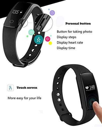 Heart Rate Fitness Tracker Ativafit Sleep Monitor Calorie Counter Activity Tracker Smart Bracelet for iPhone & Android Phone by Ativafit (Image #4)