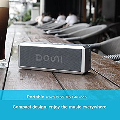 Douni (A7) 20W Portable Bluetooth Wireless Stereo Speaker with Enhanced Bass , LED Button Backlighting,Support Handsfree Calling , NFC ,Works with iPhone, iPad, Samsung,Nexus, TV, Laptops