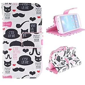 TOPAA Lovely Cartoon Design, PU Leather Full Body Protective Case with Stand for Samsung Galaxy S4 Mini I9190 , Rose