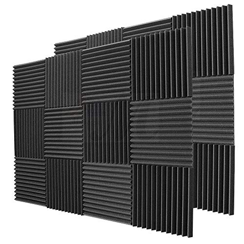 BEWAVE Acoustic Panels Soundproofing Acoustic Foam, Sound Proof Padding Wedge Tiles Curtain for Studio Wall Piano Room 1