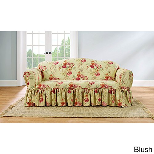 Sure Fit Ballad Bouquet by Waverly Slipcover (Blush, Box Cushion Sofa)