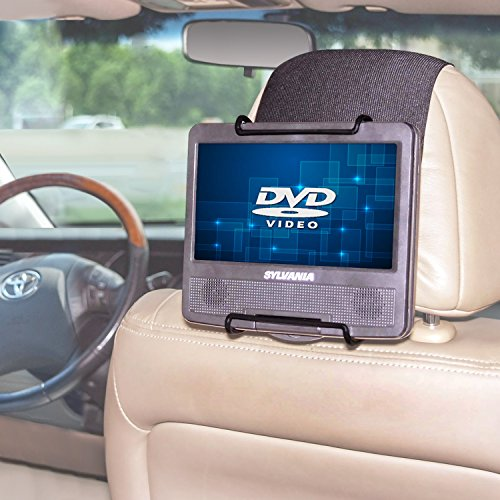 TFY Universal Car Headrest Mount Holder for Portable DVD Player (Car Headrest Player Dvd For Mount)