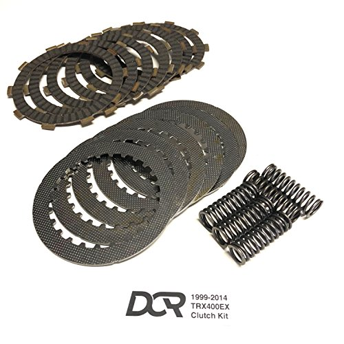 (Heavy Duty DCR Clutch Kit Plates Steels Springs fits 1999-2014 Honda TRX400EX)