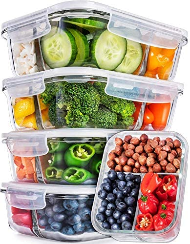 5 Pack Glass Prep Containers Compartment product image