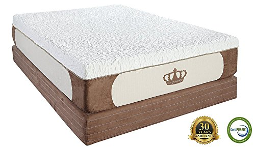 DynastyMattress Cool Breeze 12-Inch Gel Memory Foam Mattress, King Size DynastyMattress