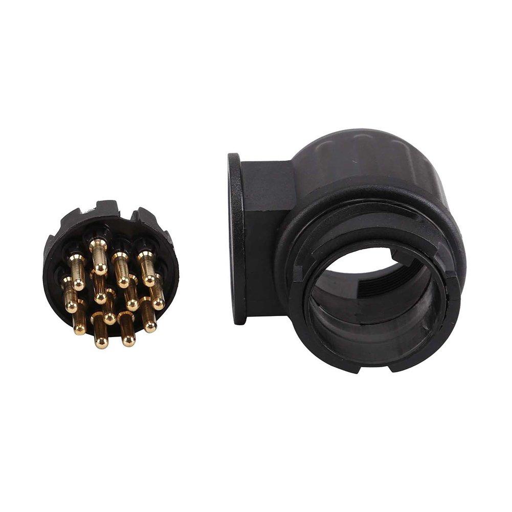 PerGrate Einspritzungs-Stecker 13-Pin-Auto-Stecker-12V Anh/änger-Beleuchtung beleuchtet Anh/änger-Auto-Teil