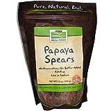 Papaya Spears No Sulfur Now Foods 12 oz Bag