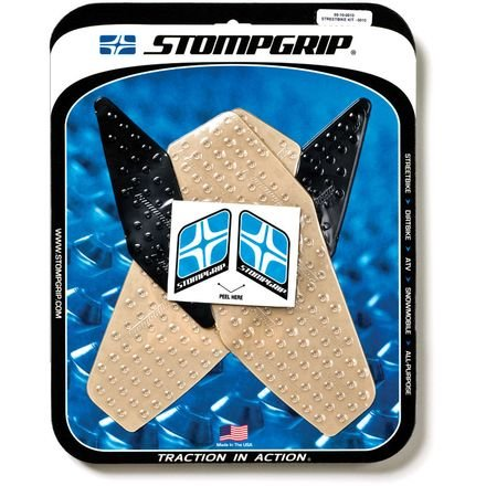 08-16 YAMAHA YZF-R6: Stomp Grip Traction Pads (CLEAR)
