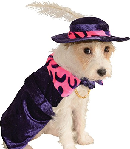 Big Daddy Velvet Costume - Rubie's Mac Daddy Pet Costume, Small